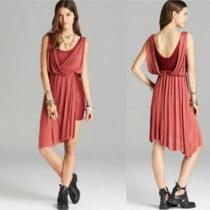 Free People Red Draped Overlay Dress